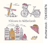 welcome to netherlands vector... | Shutterstock .eps vector #726433876