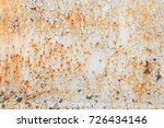 a rotted metal panel covered in ... | Shutterstock . vector #726434146