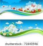 summer positive banners | Shutterstock .eps vector #72643546