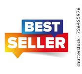 best seller tag speech bubble | Shutterstock .eps vector #726435976
