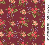 charming pattern in small... | Shutterstock .eps vector #726436720