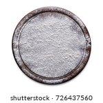 floured wooden cutting board... | Shutterstock . vector #726437560