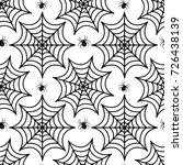 cobweb seamless pattern. spider ... | Shutterstock .eps vector #726438139