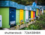 Colored Wooden Beehives   Hone...