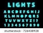 modern trendy blue neon... | Shutterstock .eps vector #726438928