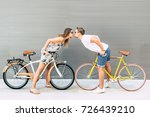 couple of people in love riding ... | Shutterstock . vector #726439210