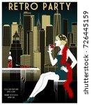 Retro Party Invitation Card....