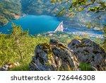 dam perucac on a drina river....   Shutterstock . vector #726446308