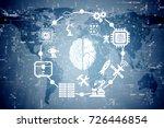 artificial intelligence modern... | Shutterstock . vector #726446854