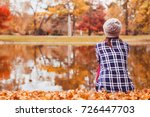 autumn cozy background ... | Shutterstock . vector #726447703