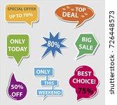 business discount speech bubbles | Shutterstock .eps vector #726448573