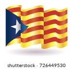 wavy flag of catalonia vector...   Shutterstock .eps vector #726449530