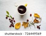 autumn mood t to drink hot... | Shutterstock . vector #726449569