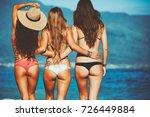 beautiful young women enjoying...   Shutterstock . vector #726449884