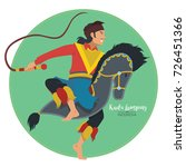 vector stock of kuda lumping or ... | Shutterstock .eps vector #726451366