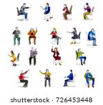 silhouettes of successful... | Shutterstock . vector #726453448