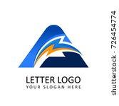 letter a electrical alphabet...   Shutterstock .eps vector #726454774
