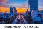 sky train mass transit system... | Shutterstock . vector #726455233