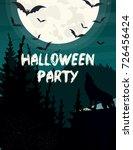 vector illustration halloween... | Shutterstock .eps vector #726456424