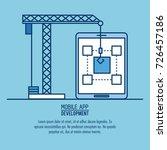 mobile app infographic | Shutterstock .eps vector #726457186