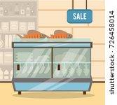 supermarket sale stand   Shutterstock .eps vector #726458014
