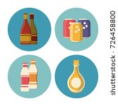 drinks round icons | Shutterstock .eps vector #726458800