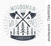 lumberjack at work vintage...   Shutterstock .eps vector #726459316
