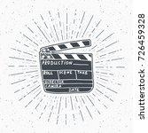 clapperboard vintage label ... | Shutterstock .eps vector #726459328