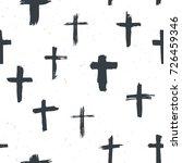 cross symbols seamless pattern...   Shutterstock .eps vector #726459346