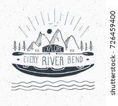 kayak and canoe vintage label ... | Shutterstock .eps vector #726459400