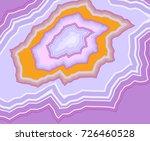 vector purple agate geode slice ... | Shutterstock .eps vector #726460528