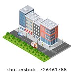 urban isometric area of the... | Shutterstock .eps vector #726461788