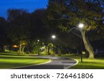 peaceful park in the night with ... | Shutterstock . vector #726461806