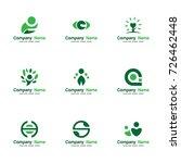 set abstract people logo vector.... | Shutterstock .eps vector #726462448