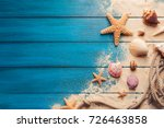 summer time concept with sea... | Shutterstock . vector #726463858