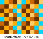 colorful checkered square... | Shutterstock .eps vector #726464248