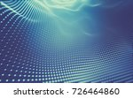 abstract polygonal space low... | Shutterstock . vector #726464860
