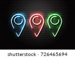 vector realistic isolated neon... | Shutterstock .eps vector #726465694