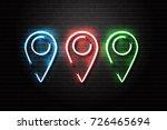 vector realistic isolated neon... | Shutterstock .eps vector #726465694