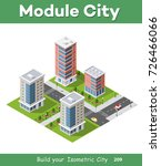 urban isometric area of the... | Shutterstock .eps vector #726466066