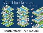 city module creator isometric... | Shutterstock .eps vector #726466903