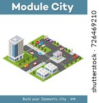 urban isometric area of the... | Shutterstock .eps vector #726469210