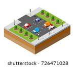 urban isometric parking with... | Shutterstock .eps vector #726471028