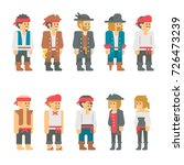 flat design pirate characters... | Shutterstock .eps vector #726473239