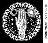 vintage fortune teller hand... | Shutterstock .eps vector #726478048