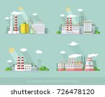 industrial landscape set. the... | Shutterstock .eps vector #726478120