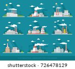 industrial landscape set. the... | Shutterstock .eps vector #726478129