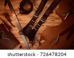 leather craft and belt for... | Shutterstock . vector #726478204