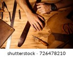 working process of the leather... | Shutterstock . vector #726478210