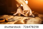 working process of the leather... | Shutterstock . vector #726478258